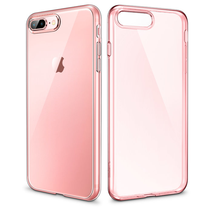 ESR Telefoonhoesje - Apple iPhone 7 Plus / 8 Plus - Essential Zero - Roze Transparant