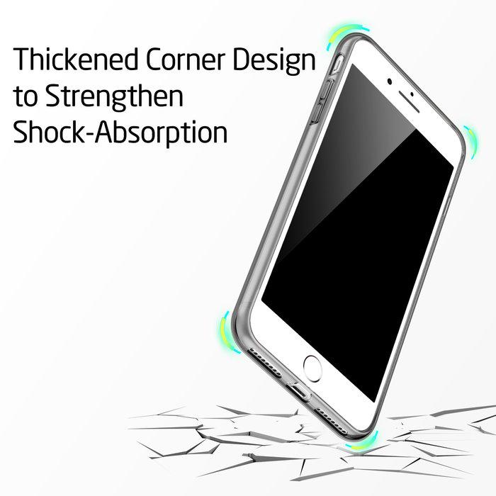 ESR Telefoonhoesje - Apple iPhone 7 Plus / 8 Plus - Essential Zero - Donker Transparant