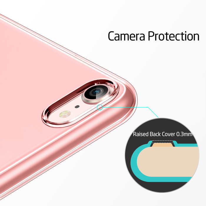 ESR Telefoonhoesje - Apple iPhone 8/7 - Essential Zero - Roze Transparant