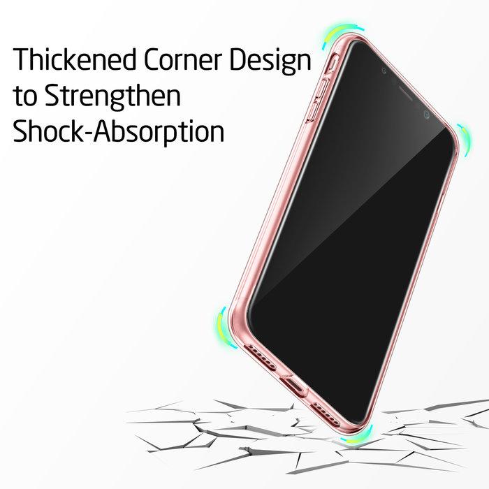 ESR Telefoonhoesje - Apple iPhone X/XS - Essential Zero - Roze Transparant