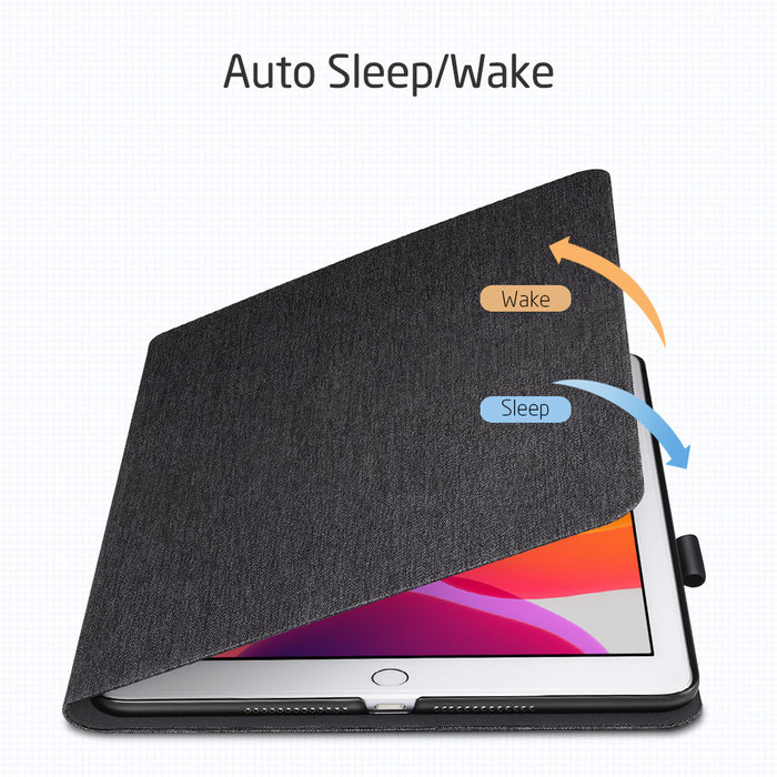 ESR Tablethoes - iPad 10.2 2019 - Simplicity Canvas - Zwart