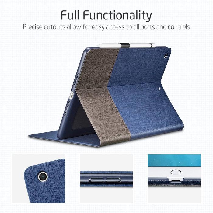 ESR Tablethoes - iPad 10.2 2019 - Simplicity Canvas - Blauw