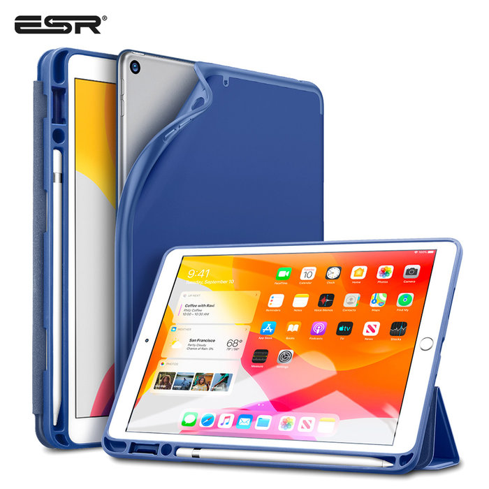 ESR Tablethoes - iPad Pro 10.2 2019 - Rebound Pencil - Navy Blue
