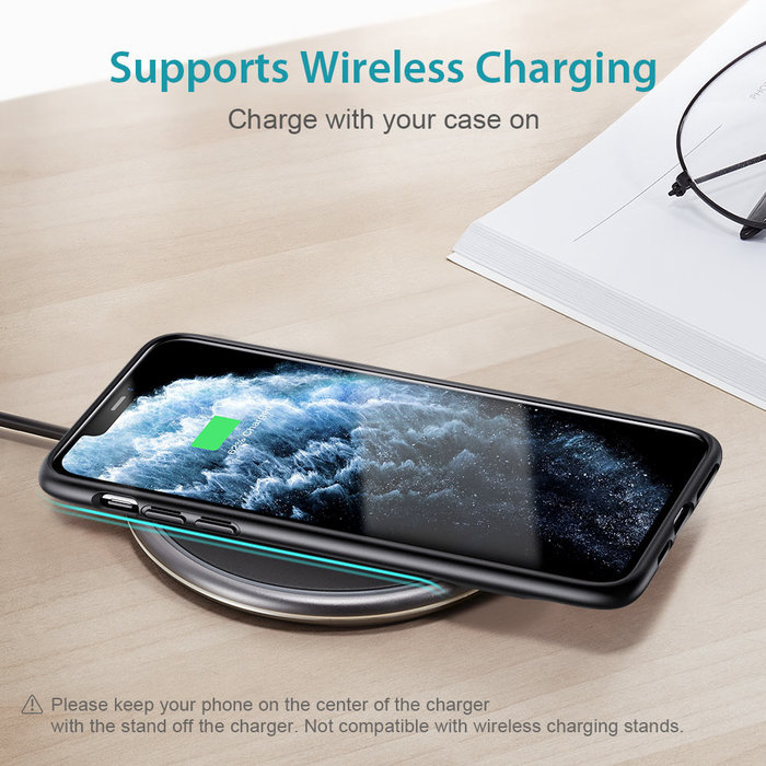 ESR - telefoonhoesje - Apple  iPhone 11 Pro  - Air Shield Boost -  Zwart & met standaard