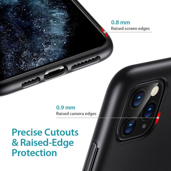 ESR - telefoonhoesje - Apple iPhone 11 Pro Max - Air Shield Boost - Zwart & met standaard