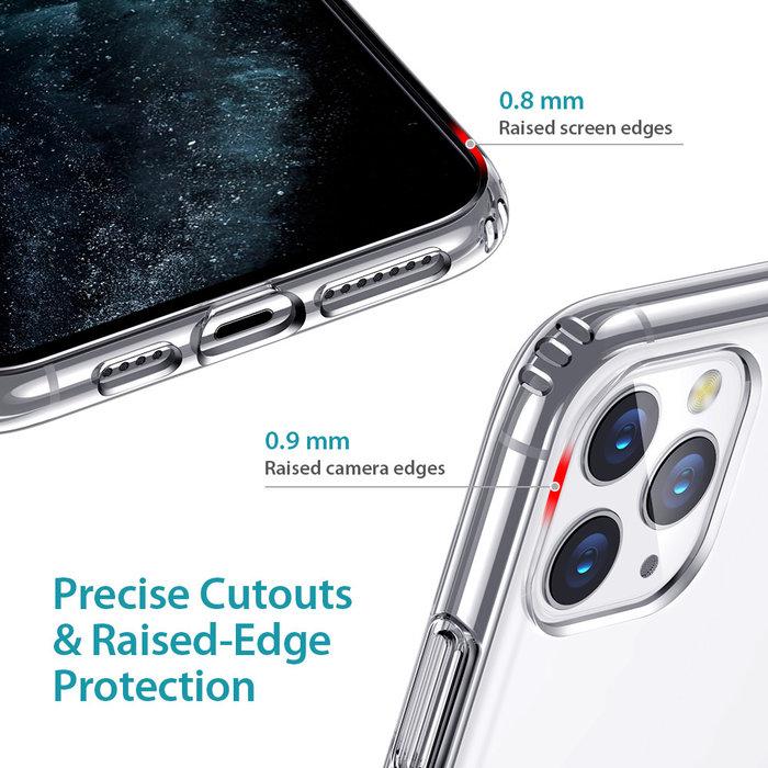 ESR - telefoonhoesje - Apple iPhone 11 Pro Max - Air Shield Boost - Transparant & met standaard
