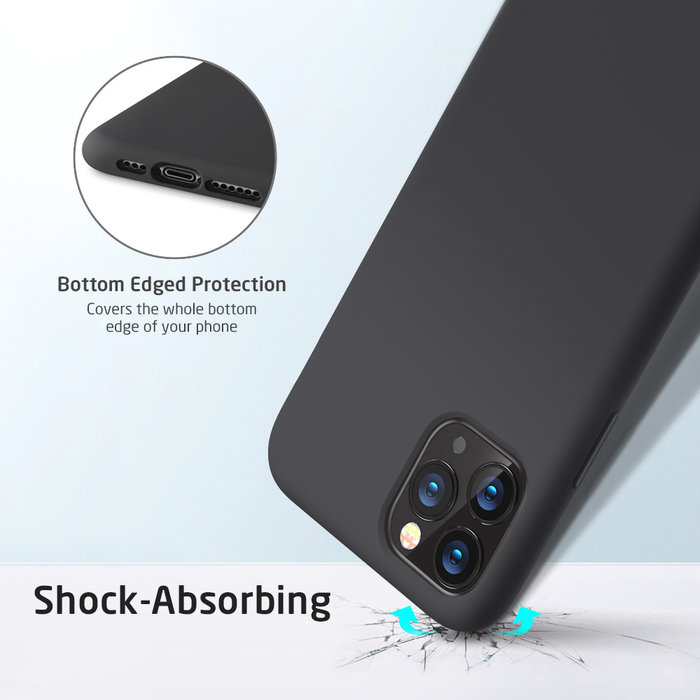 ESR - telefoonhoesje - Apple  iPhone 11 Pro -  Yippee siliconen - Zwart