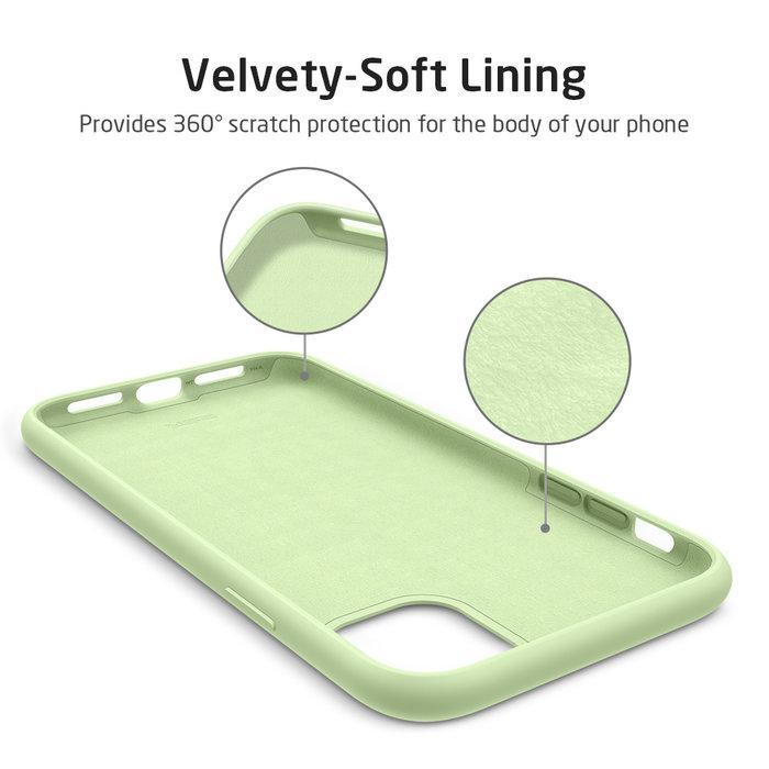 ESR - telefoonhoesje - Apple iPhone 11 - Yippee siliconen - Groen