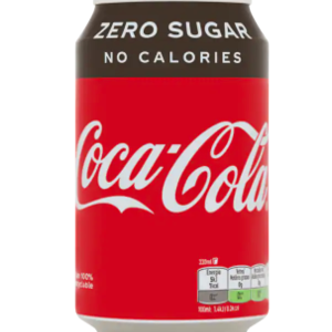 Blikje coca cola zero per stuk