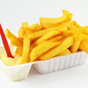 Huisgemaakte friet groot per stuk