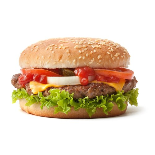 cheese burger per stuk