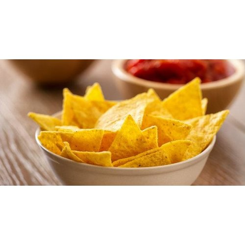 Tortillachips met zure room en sweet chili