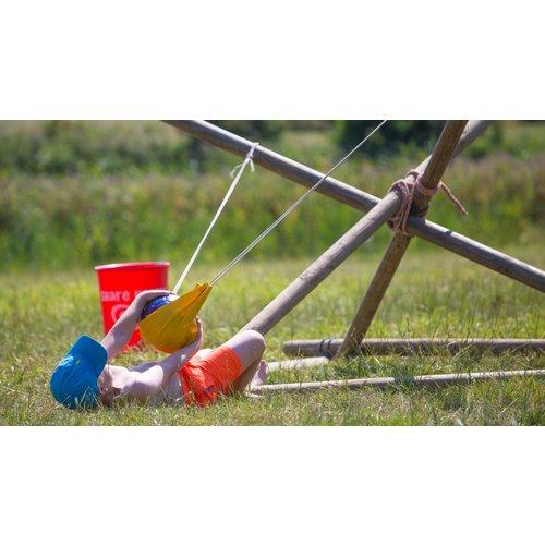 Kinderpartijtje katapult bouwen