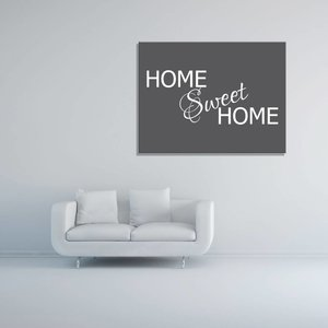 Tekst op canvas Home sweet home