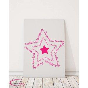 Tekst op canvas Twinkle Twinkle little star