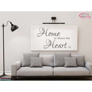 Tekst op canvas Home is where the heart is
