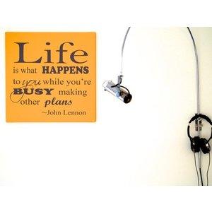 Tekst op canvas Life is what happens..