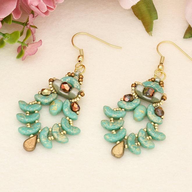 Arcos® Par Puca® - Opaque Green Turquoise Splash