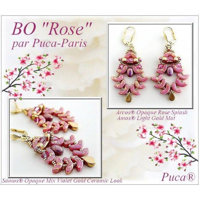 Arcos® Par Puca® - Opaque Mix rose/gold ceramic look