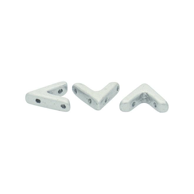 AVA® Bead 10x4 mm - Aluminium Silver