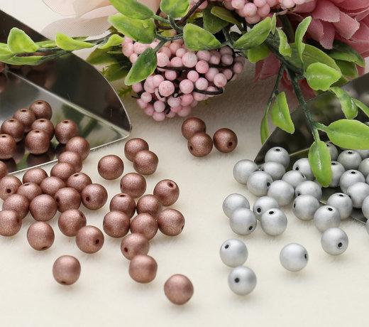 Perle tonde in vetro pressato ceco