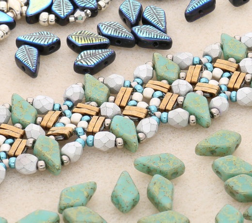 Kite Beads - rautenförmige Perlen