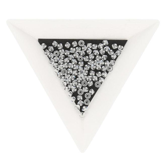 Doppelkegel 3 mm - Crystal