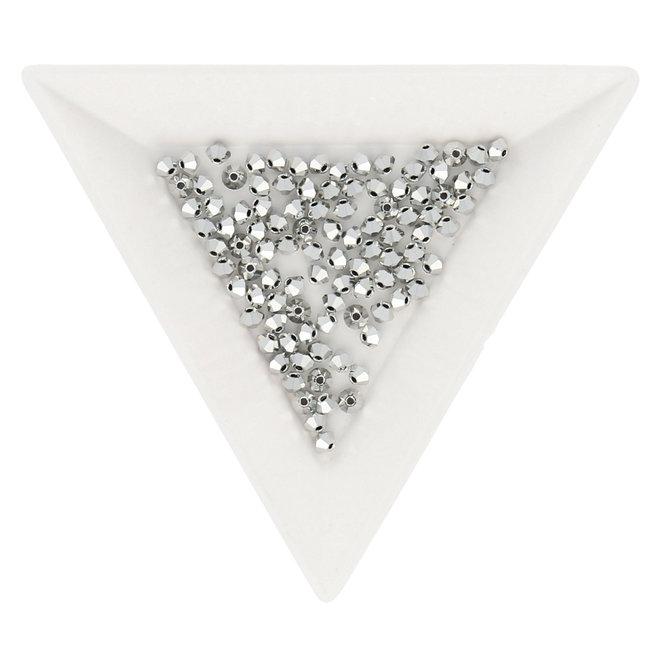 Bicone 3 mm - Crystal Labrador