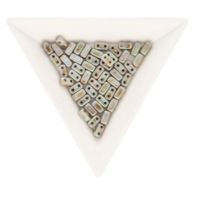 Bricks CzechMates 6x3 mm - Opaque Green - Ultra Luster