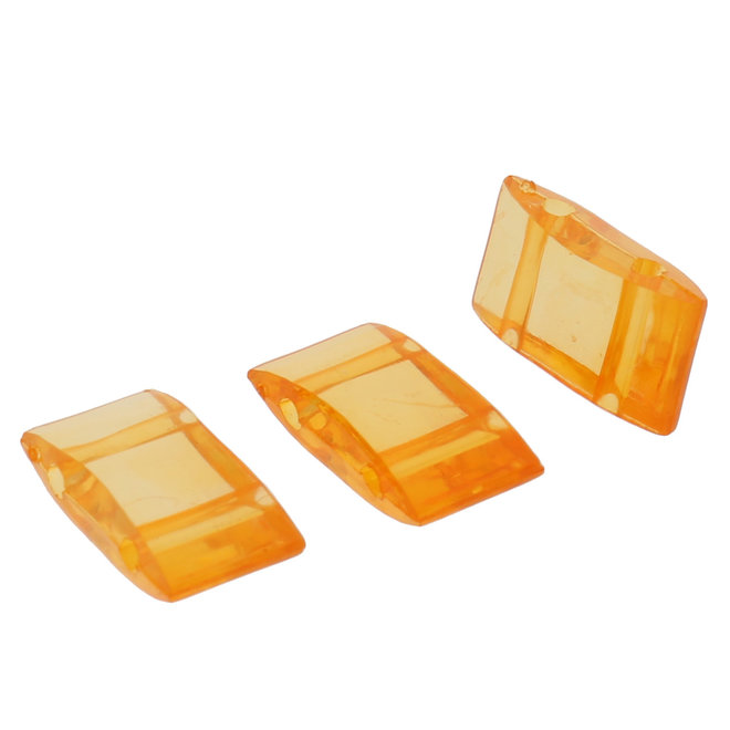 Carrier Bead aus Acryl - Orange transparent