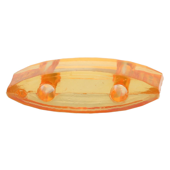 Carrier Bead aus Acryl 18x9 mm - Orange transparent