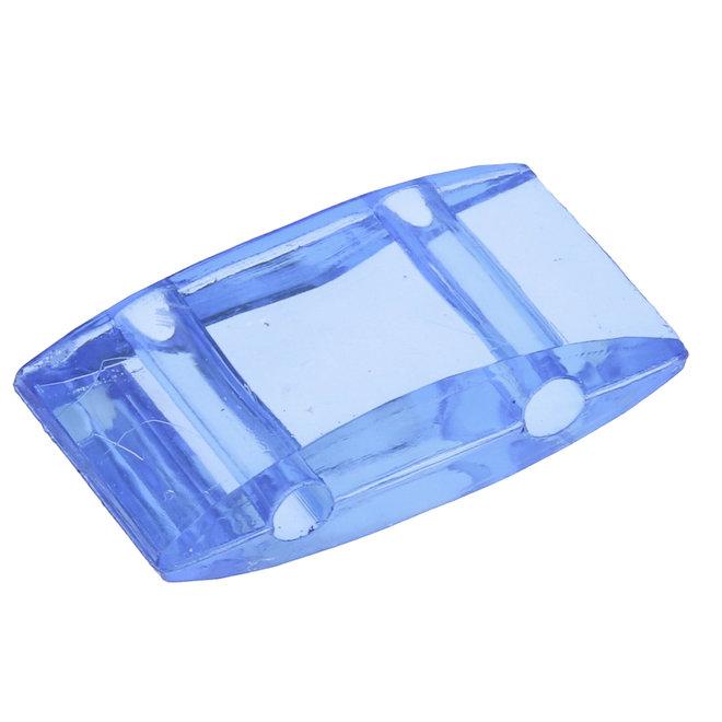 Carrier Bead acrilica 18x9 mm - blu trasparente