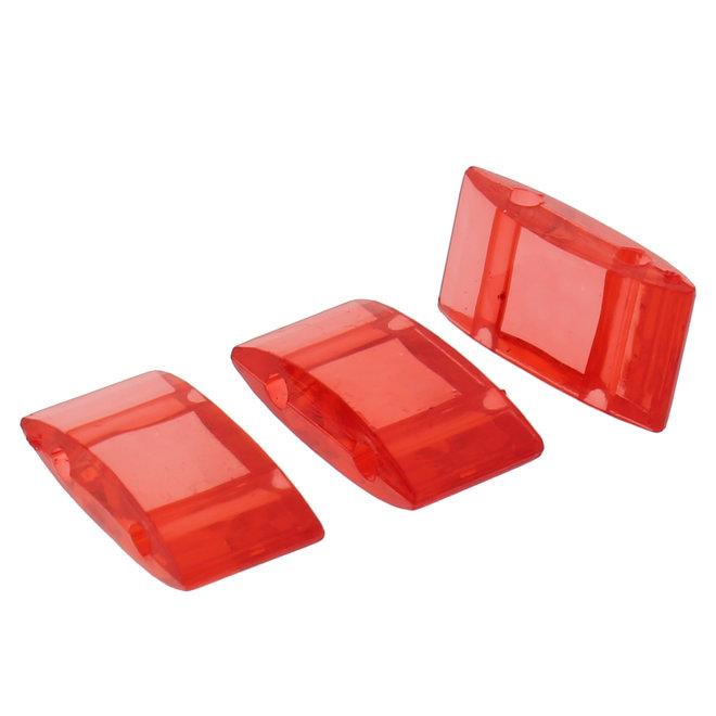 Carrier Bead aus Acryl 18x9 mm - Rot transparent