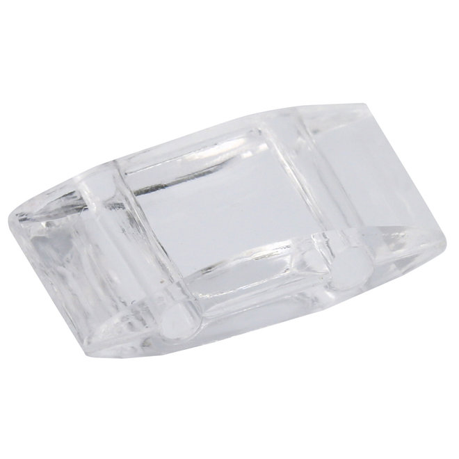 Carrier Bead acrilica 18x9 mm - Crystal trasparente