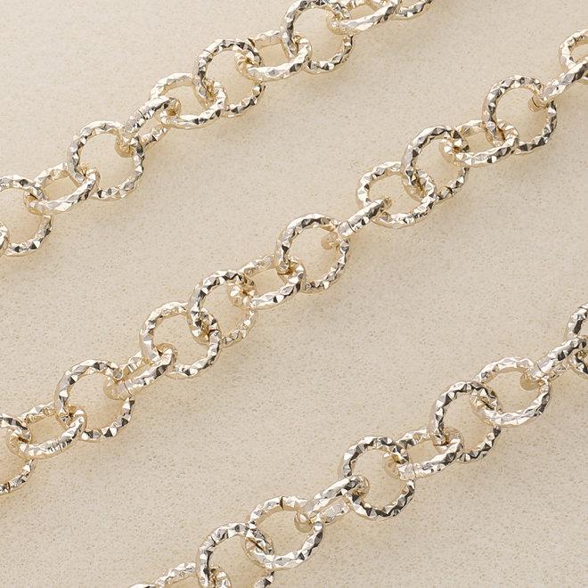 Catena in alluminio maglie grosse - oro chiaro