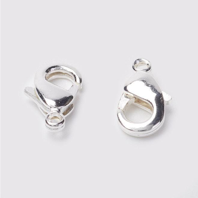 Chiusura a moschettone - colore argento