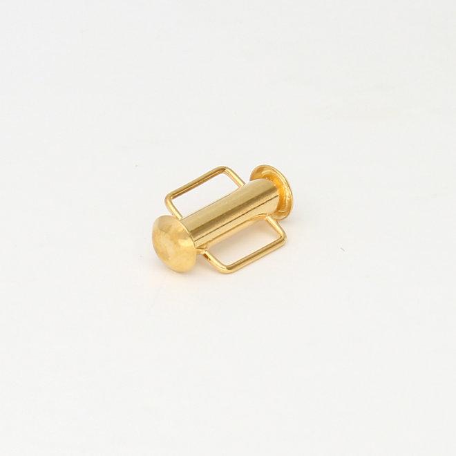 Fermoir coulissant pour bande de tissage 16,5 mm - doré
