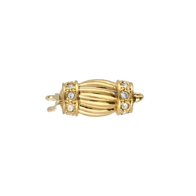 Federverschluss oval – Vergoldet 23 Karat