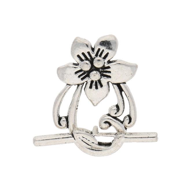 Fermoir bijoux T avec motif floral