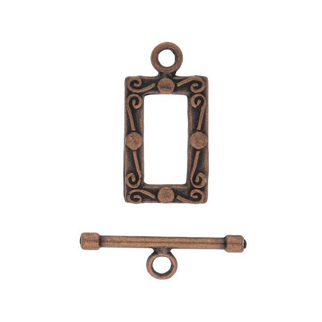 T-Bar-Verschluss rechteckig - Kupfer