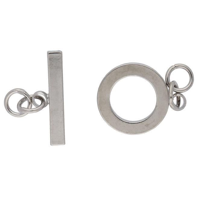T-Bar-Verschluss rund, massiv - Silberfarbe