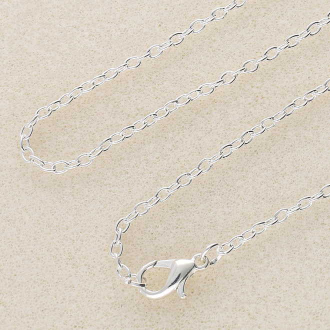 Fertige Halskette 77 cm - versilbert