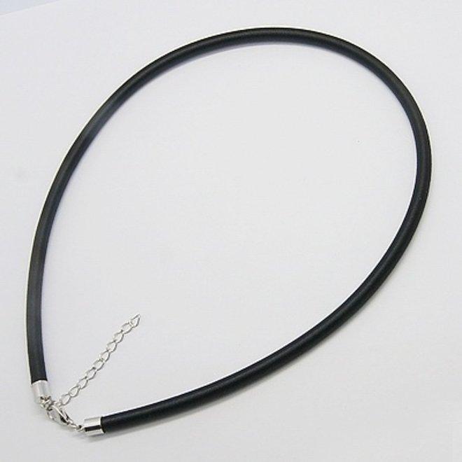 Chokerhalskette aus schwarzer Seide mit Karabinerverschluss