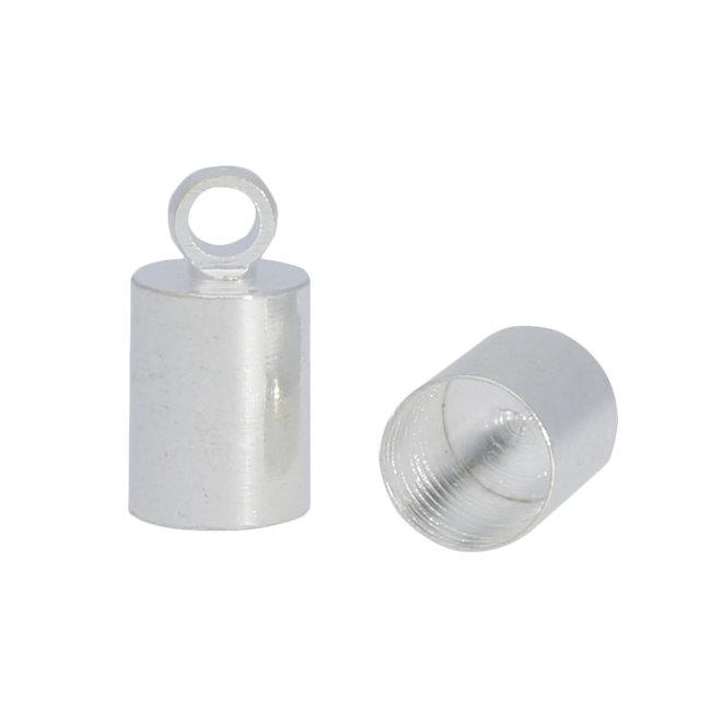 Endkappe-Kordelende 10x5 mm - Silber