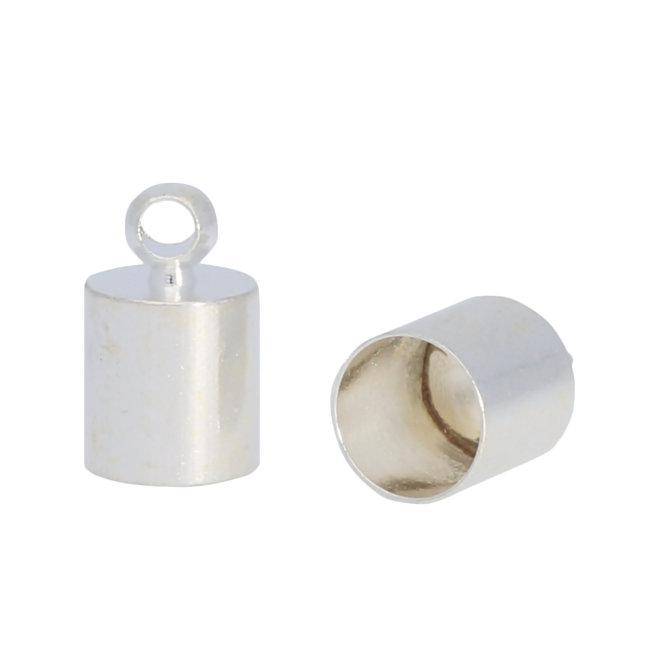 Endkappe-Kordelende 10x6 mm - Silber