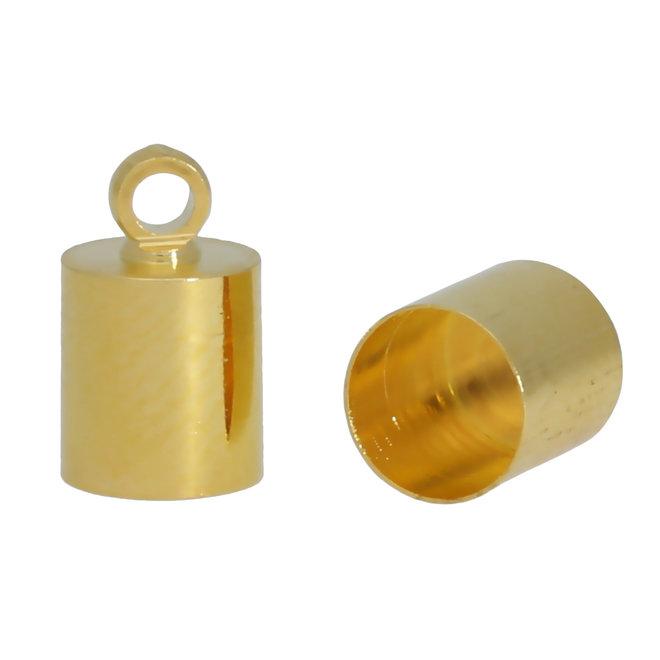 Endkappe-Kordelende 11x6 mm - Gold