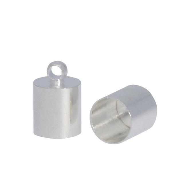 Endkappe-Kordelende - Silber