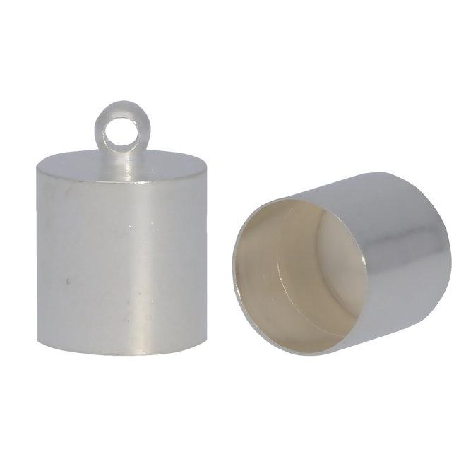 Endkappe-Kordelende 14x10 mm - Silber