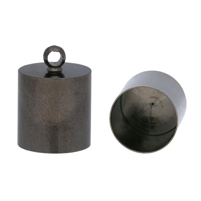 Embout pour cordon 14x10 mm - Gunmetal