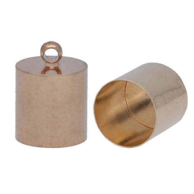 Endkappe-Kordelende 14x10 mm - Roségold